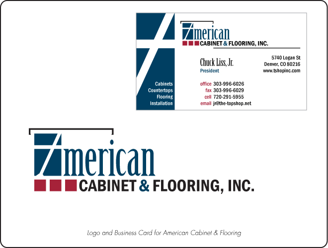American Cabinet & Flooring Logo and Business Card