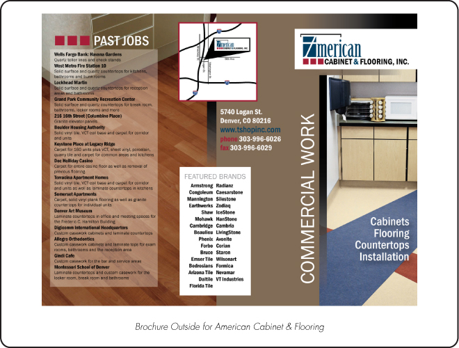 American Cabinet & Flooring Brochure Outside
